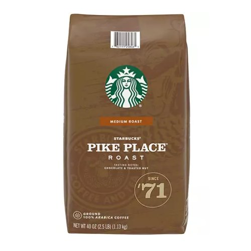 Starbucks Pike Place Roast Ground Coffee 2 lb - Click Image to Close